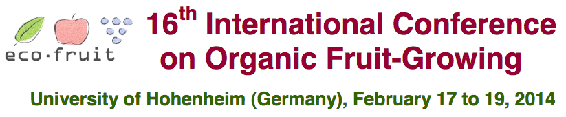 16th International Conference on Organic Fruit Growing